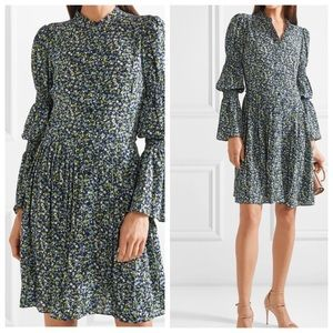 MICHAEL KORS FLORAL DRESS PLEATS - RUFFLE -SMOCKED